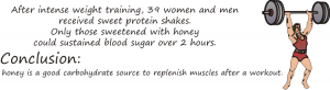 clinical trial with intense weight training and honey