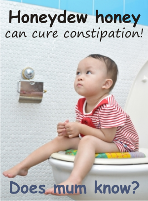 use honey to cure constipation