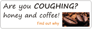 honey and coffee for coughing