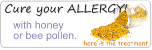 allergy can be cured with honey