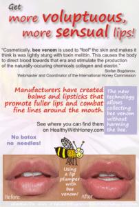 bee venom plumps the lips