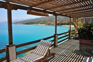 great view from their pensions on Ikaria island