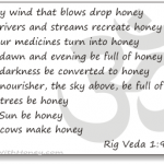 indian vedas talk about honey and bees