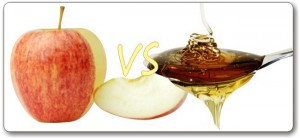comparison between aplle and honey vitamin composition