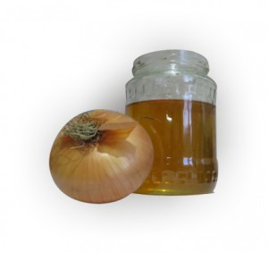 onion and honey mix