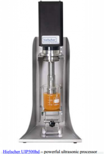 ultrasonication processing of honey
