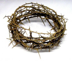 Jesus's thorn crown made of sidr branches
