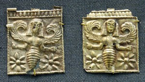 bee goddess Aertemis on a coin from Ancient Greece