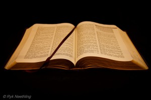 honey in an opened bible
