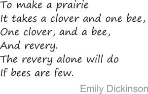 a prairie and a bee