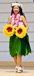 hula skit made of tea tree leaves
