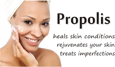 use propolis for skin conditions and cosmetics