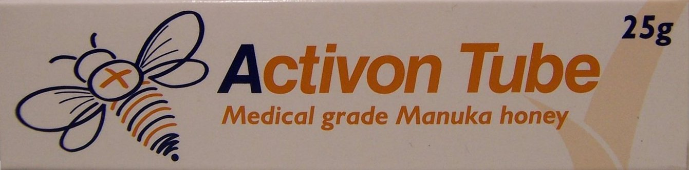 back of activon tube honey