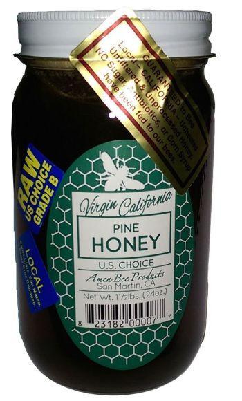 from virgin california comes some raw organic pine honey
