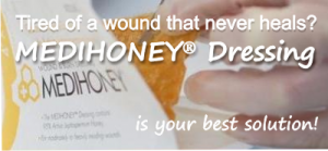 use medihoney for hard to heal wounds and ulcer foot