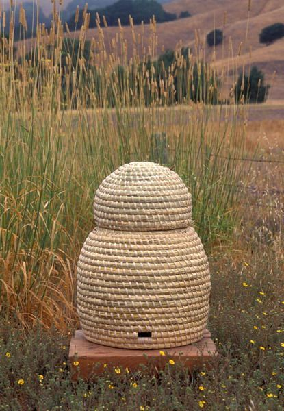 hive made of straws