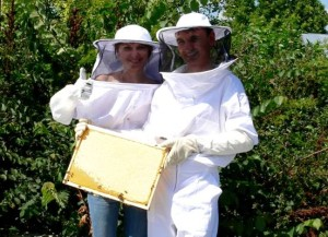 two Romanian beekeepers that sell honey in Ireland Dublin