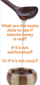 tests done to manuka honey