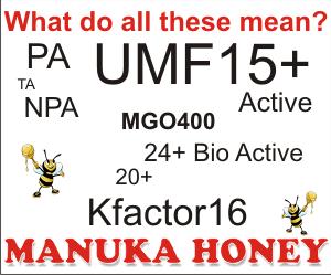 explaining grades of manuka honey