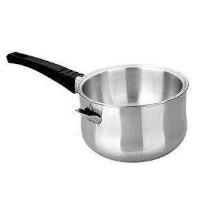 use a bain marie pot to heat the honey