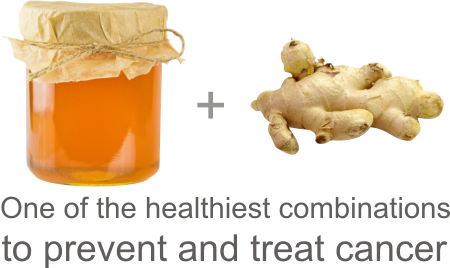 treat cancer with honey and ginger