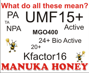 what is umf or mgo, pa, kfactor in manuka honey