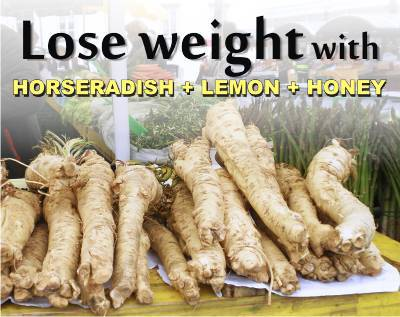 how to lose weight honey with lemon honey and horseradish