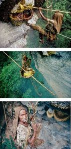 pictures of a huney hunter in Nepal