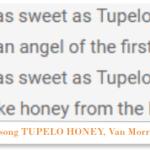 tupelo honey is a honey from mississippi
