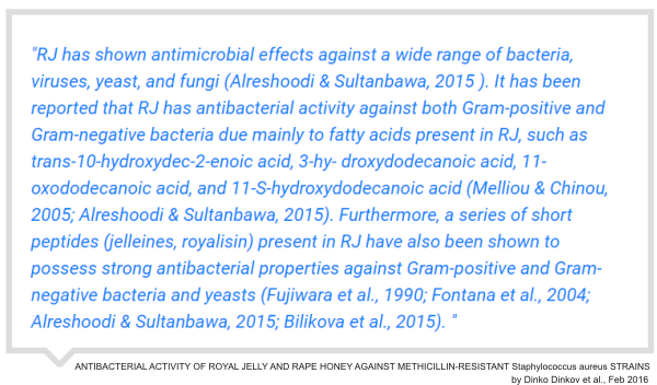 royal jelly has a powerful antibacterial effect against MRSA