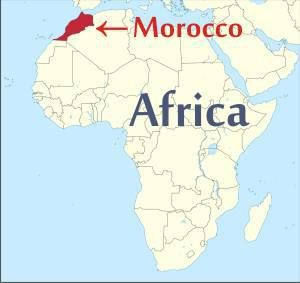 morocco in africa map