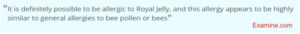 does royal jelly have contraindications