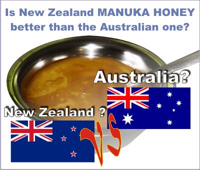 new zealand manuka honey vs australian manuka honey