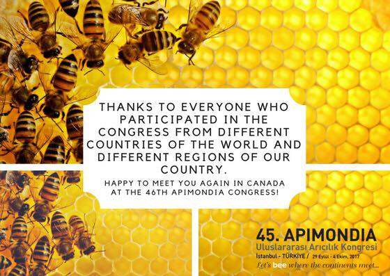 the 46 apimondia congress will be held in Canada in 2019
