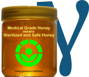 gamma irradiated honey is sterile and safe