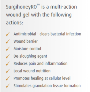surgihoney treats infected wounds