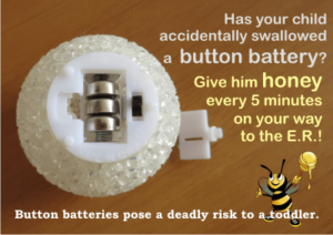 FIRST AID IN CASE OF BATTERY INGESTION
