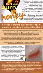 should you put honey burn