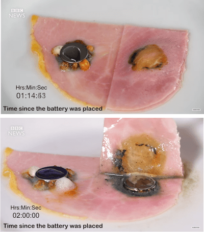what happens if you put lithium battery on ham