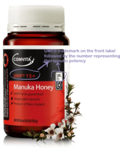 the front label of a manuka honey jar should must have the therapeutic grade