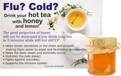 does hot tea destroy honey