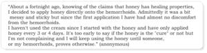 is honey good for hemorrhoids