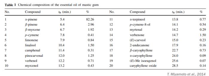 does mastic gum kill h pylori